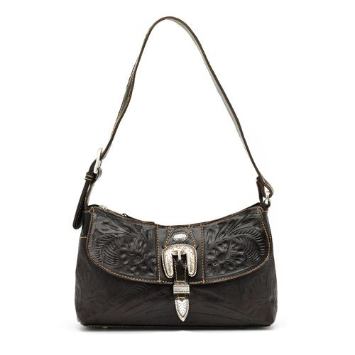 Brown Leather Classic Shoulder Bag