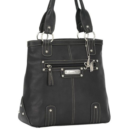 Large Black Leather Tote