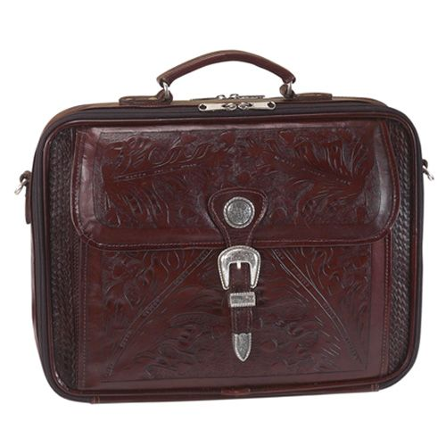 Mahogany Leather Laptop Briefcase
