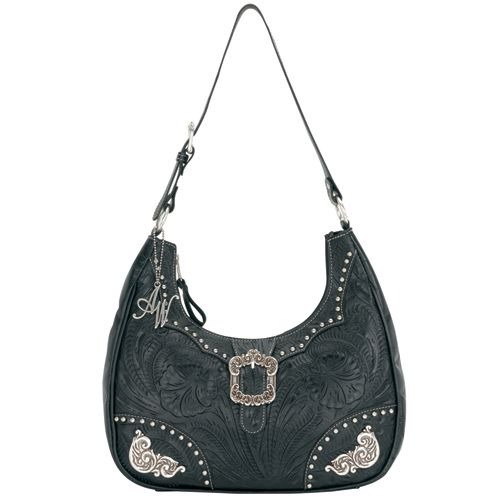 Midnight Black Leather Hobo